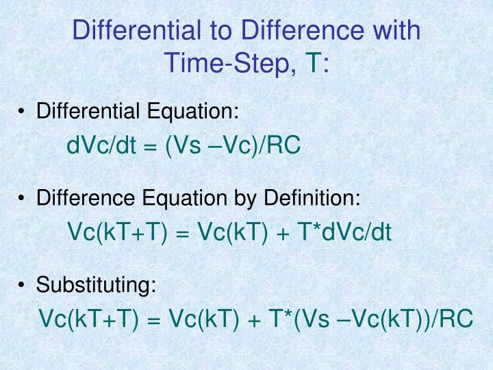 Differential to Difference with