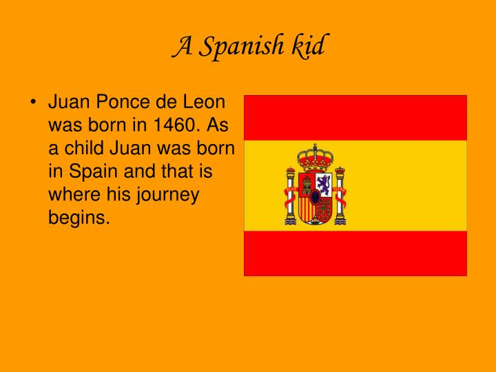 A Spanish kid