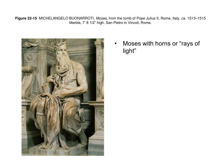"Moses with horns or ""rays of light"""