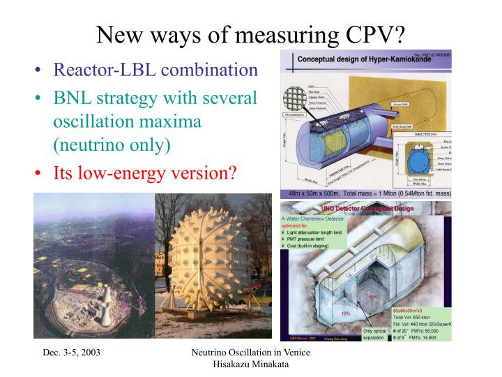 New ways of measuring CPV?