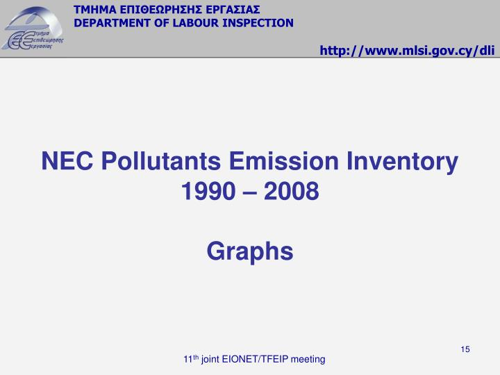 NEC Pollutants Emission Inventory