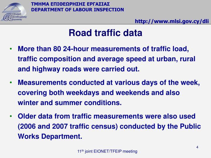 Road traffic data