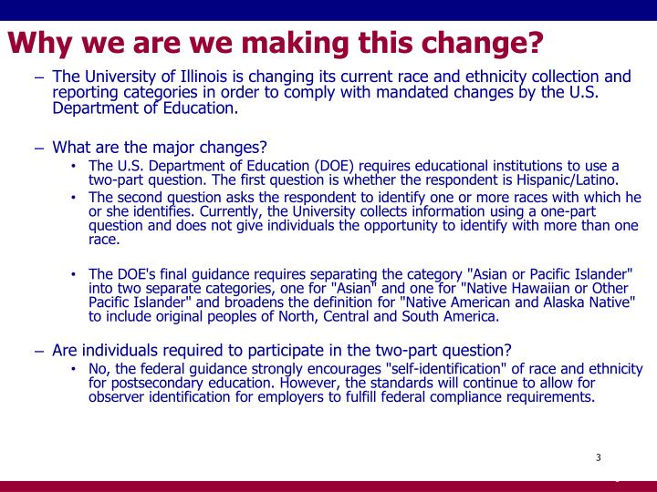 Why we are we making this change?