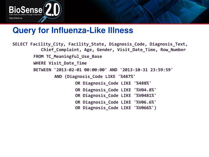 Query for Influenza-Like Illness
