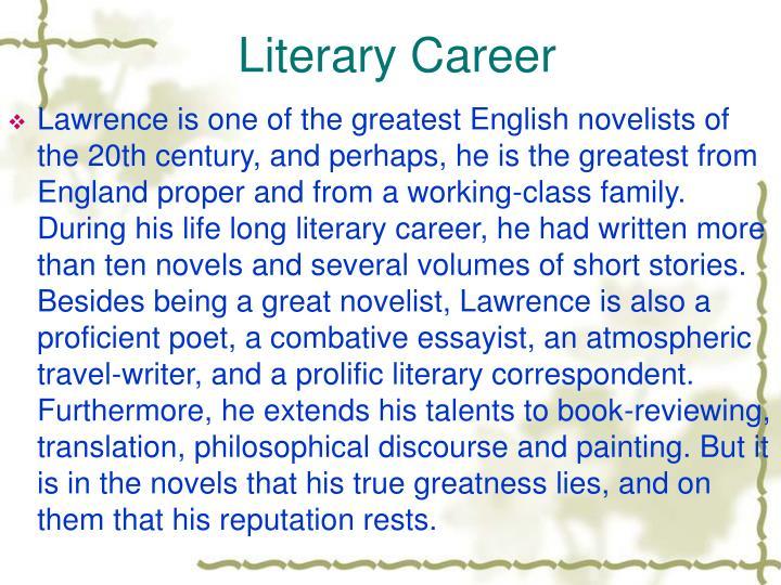 Literary Career