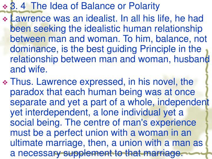 3. 4  The Idea of Balance or Polarity