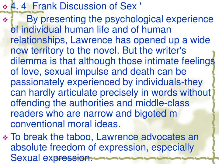 4. 4  Frank Discussion of Sex '