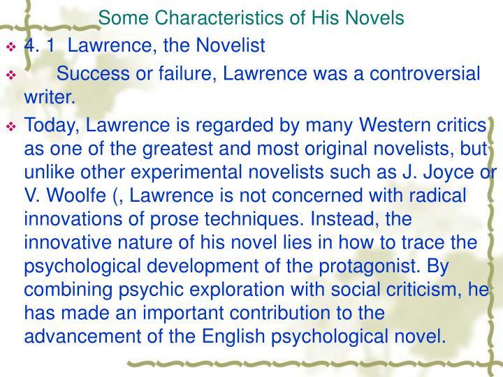 Some Characteristics of His Novels