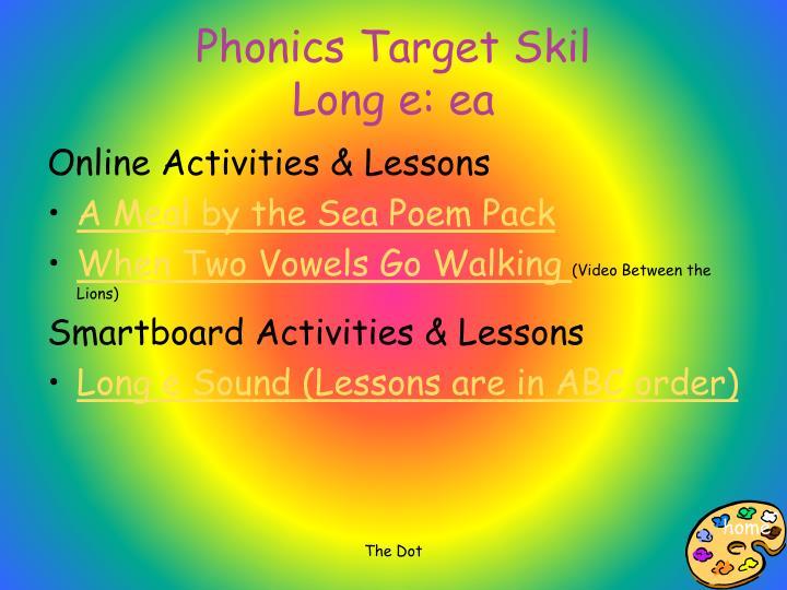 Phonics Target Skil