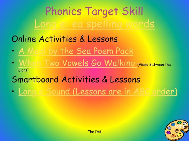Phonics Target Skill