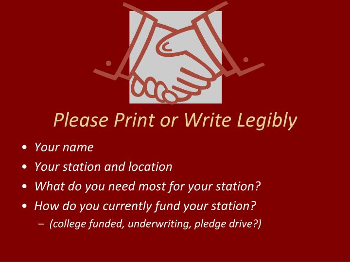 Please print or write legibly