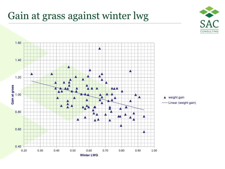 Gain at grass against winter lwg