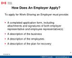 how does an employer apply