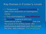 key themes in forster s novels