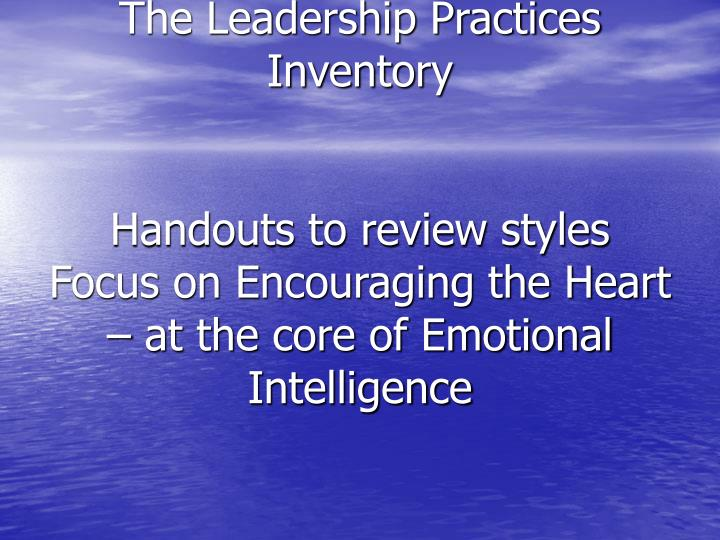 The Leadership Practices Inventory