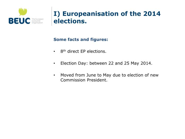 I europeanisation of the 2014 elections