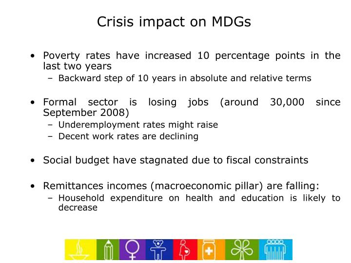 Crisis impact on MDGs