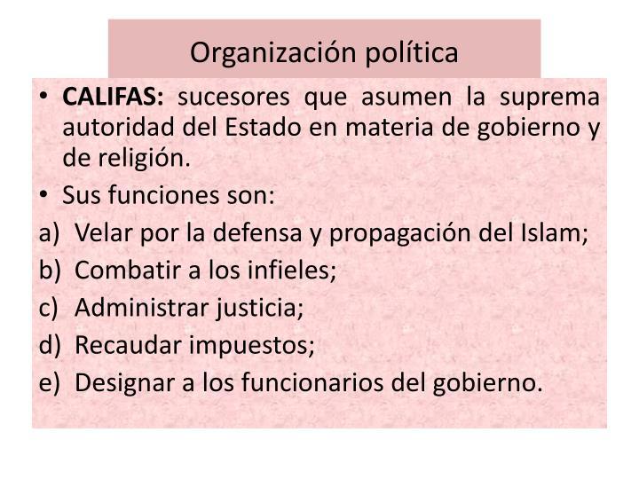 Organización política