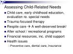 assessing child related needs