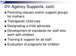 dv agency supports cont