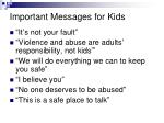 important messages for kids