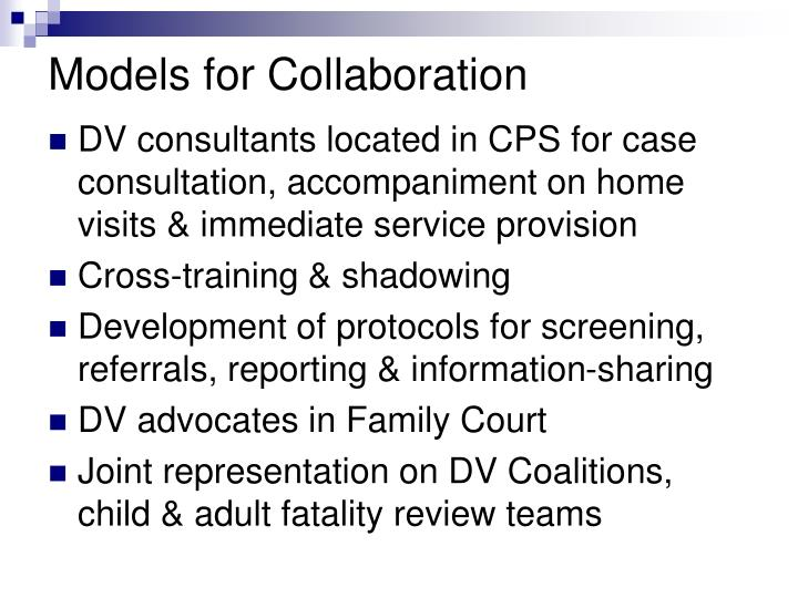 Models for Collaboration