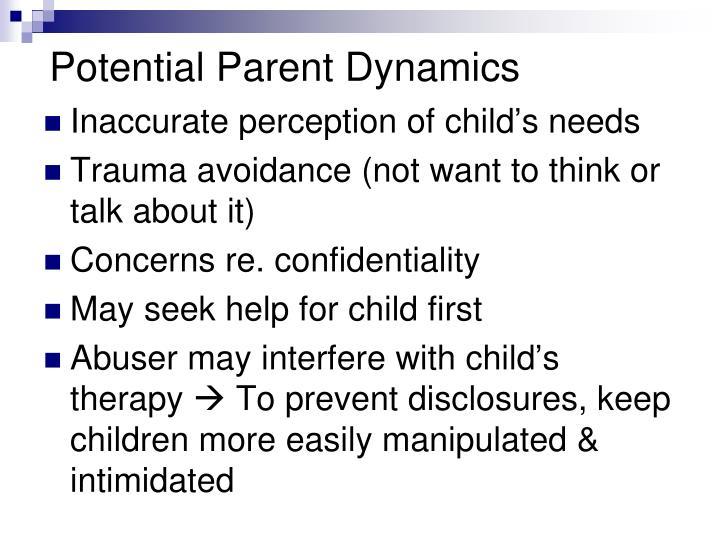Potential Parent Dynamics