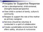 principles for supportive response