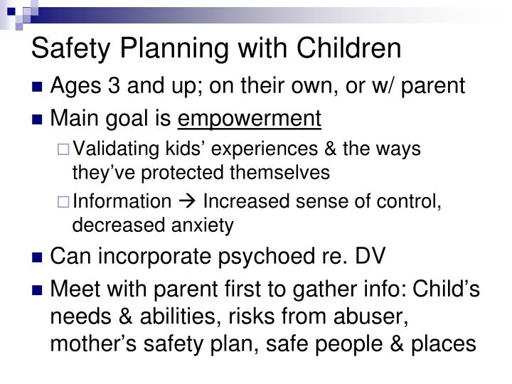 Safety Planning with Children
