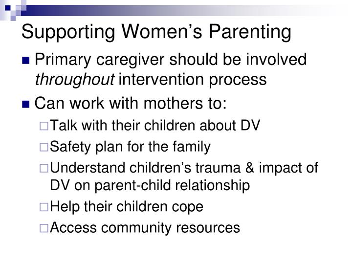 Supporting Women's Parenting