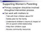 supporting women s parenting