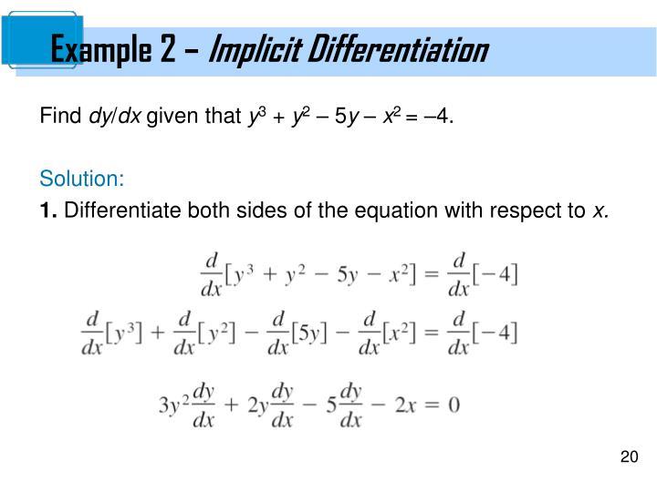 Example 2 –