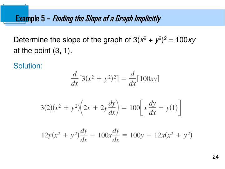 Example 5 –