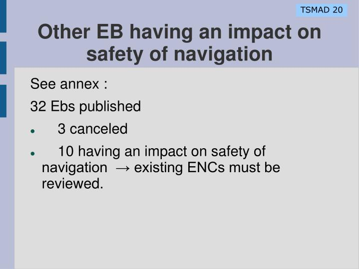 Other EB having an impact on safety of navigation
