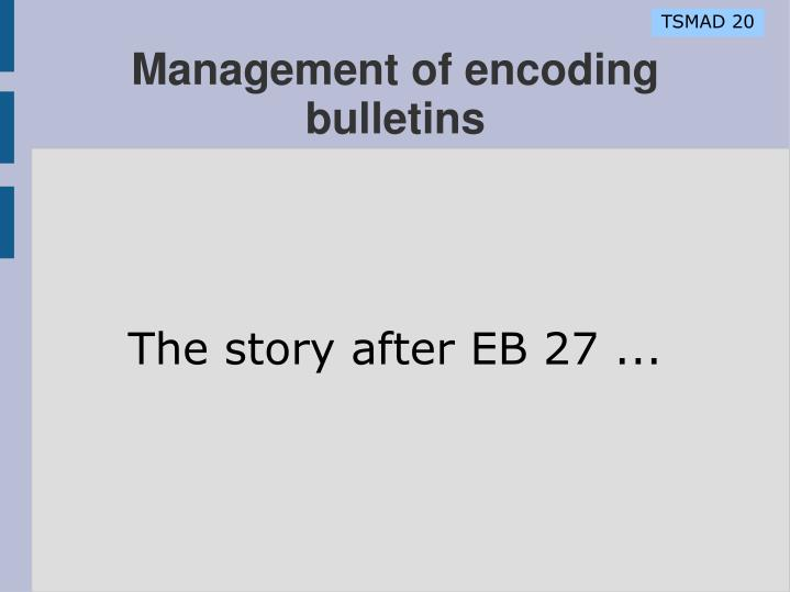 The story after eb 27