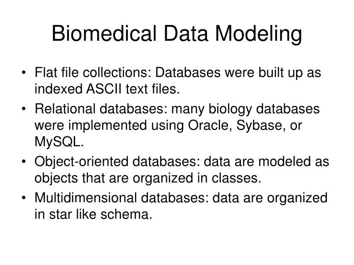 Biomedical Data Modeling