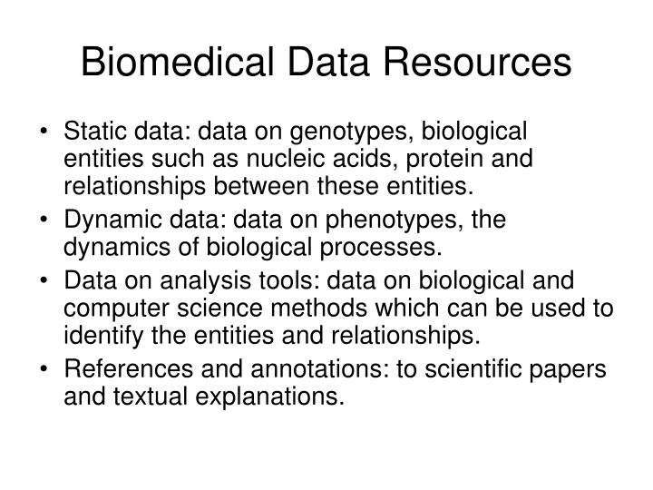 Biomedical Data Resources