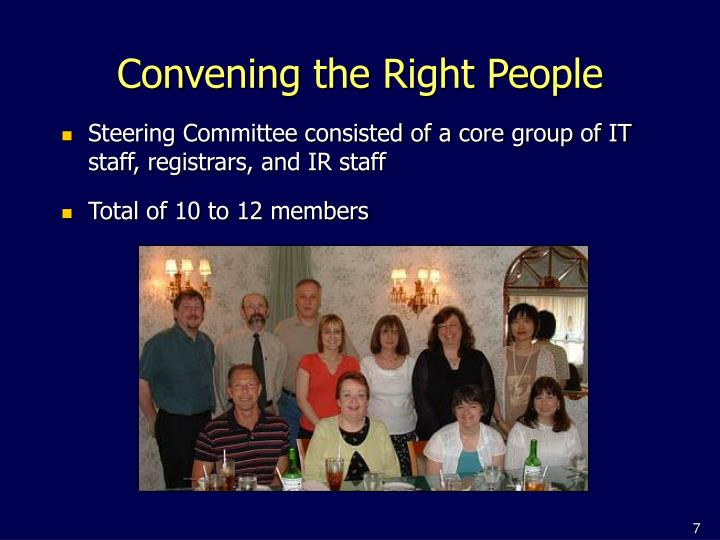 Convening the Right People