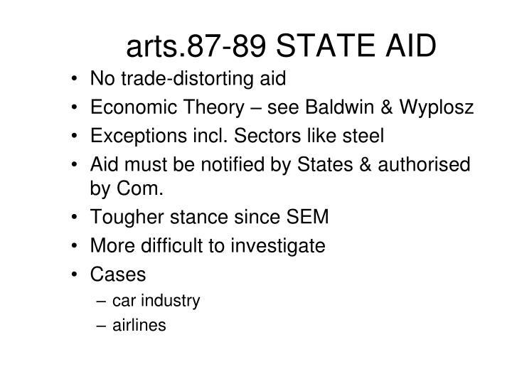 arts.87-89 STATE AID