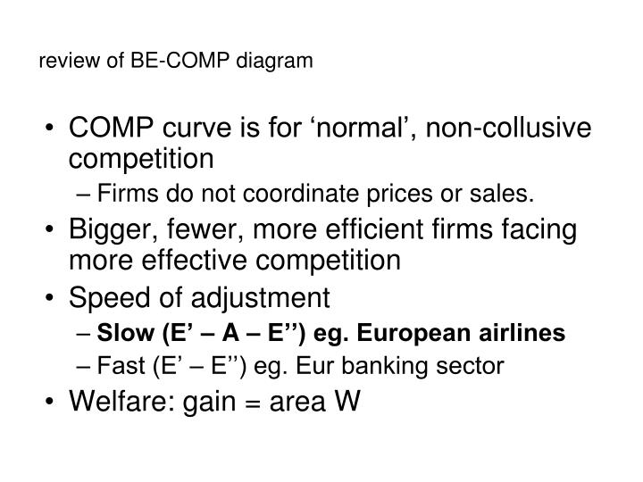 review of BE-COMP diagram