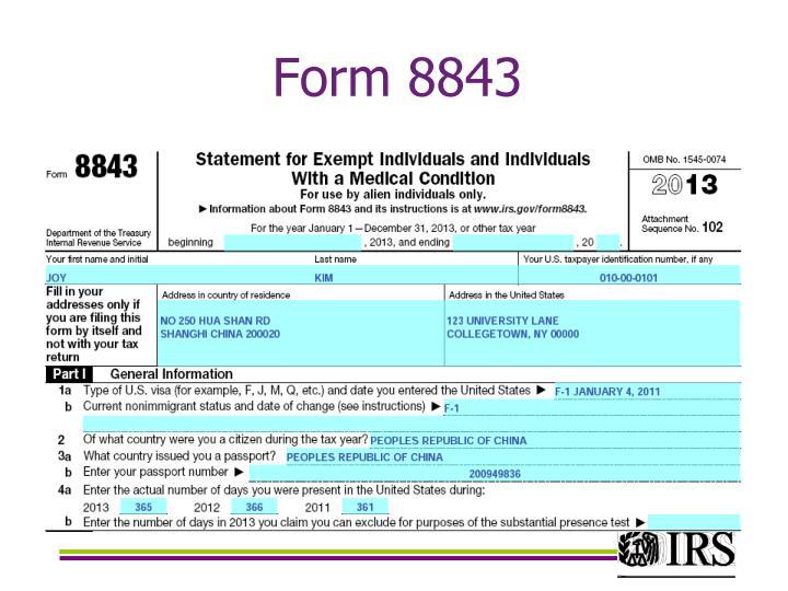 Form 8843