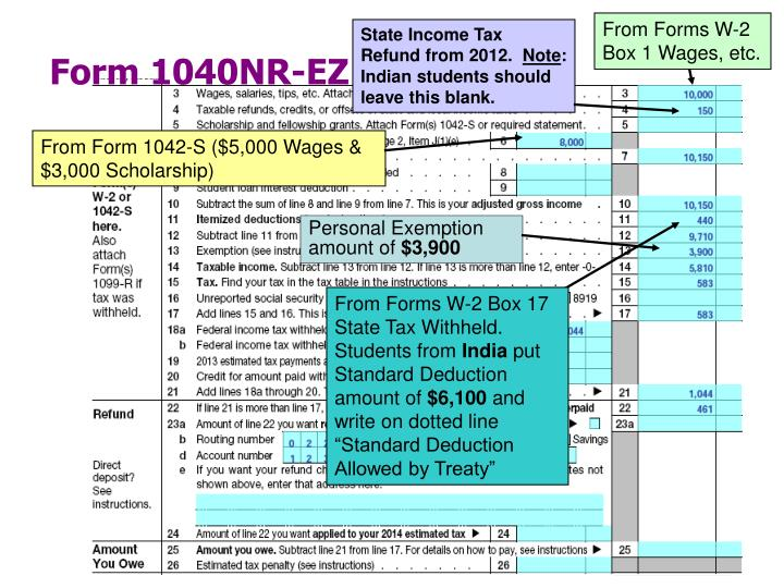 From Forms W-2 Box 1 Wages, etc.