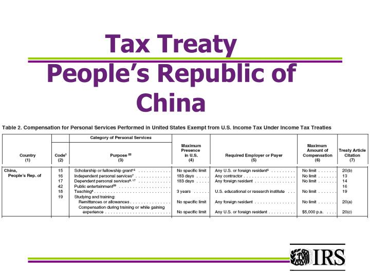 Tax Treaty
