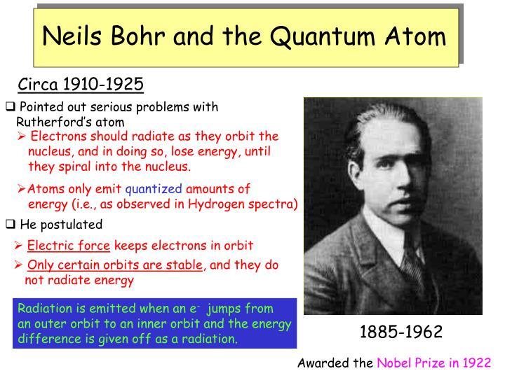 Neils Bohr and the Quantum Atom