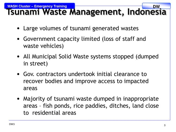 Tsunami Waste Management, Indonesia