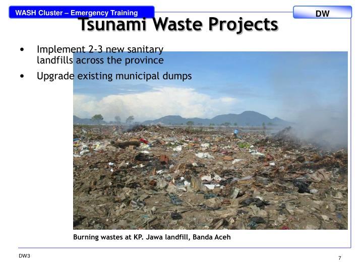 Tsunami Waste Projects
