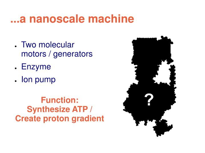 A nanoscale machine