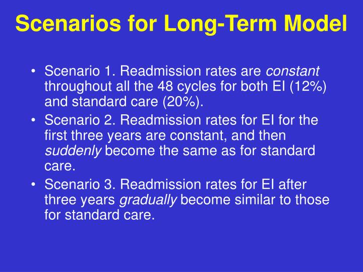 Scenarios for Long-Term Model