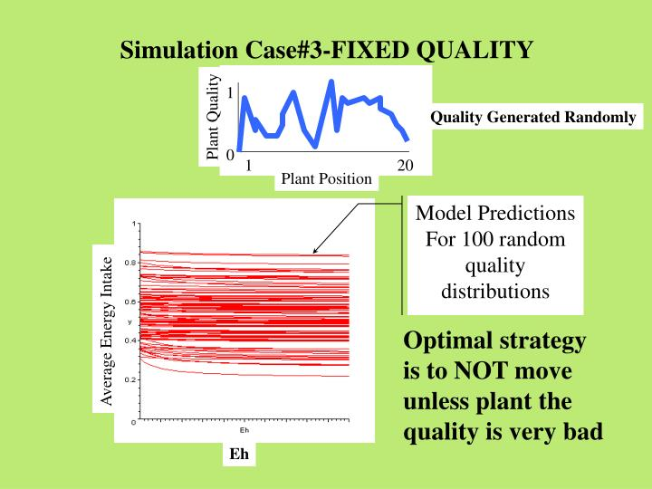 Simulation Case#3-FIXED QUALITY