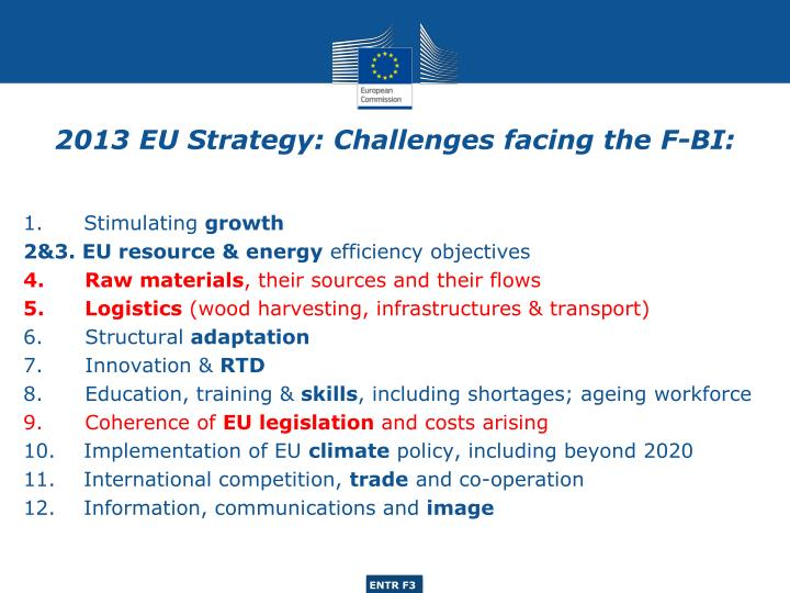 2013 eu strategy challenges facing the f bi
